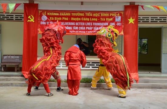 Công ty tổ chức lễ khánh thành giá rẻ tại Trà Vinh |  Khánh thành Trường tiểu học Bình Phú A