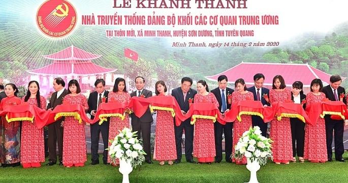 Công ty tổ chức lễ khánh thành giá rẻ tại Tuyên Quang | Khánh thành Nhà truyền thống Đảng bộ Khối các cơ quan Trung ương