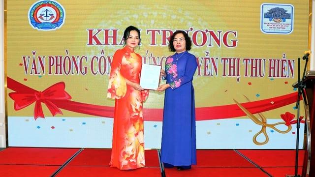 Công ty tổ chức lễ khai trương giá rẻ tại Tuyên Quang | Khai trương Khai trương Văn phòng Công chứng Nguyễn Thị Thu Hiền
