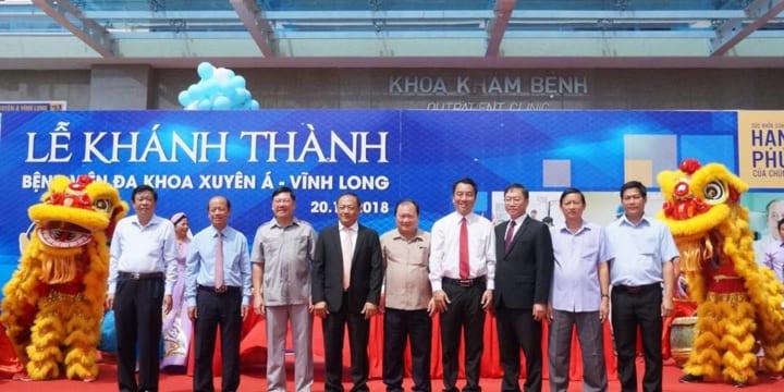 Công ty tổ chức lễ khánh thành giá rẻ tại Vĩnh Long |  Bệnh Viện Đa Khoa Xuyên Á – Vĩnh Long (BVXA – VL).