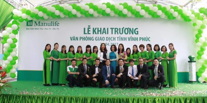 Công ty tổ chức lễ khai trương giá rẻ tại Vĩnh Phúc I Khai trương Văn phòng Manulife Vĩnh Phúc