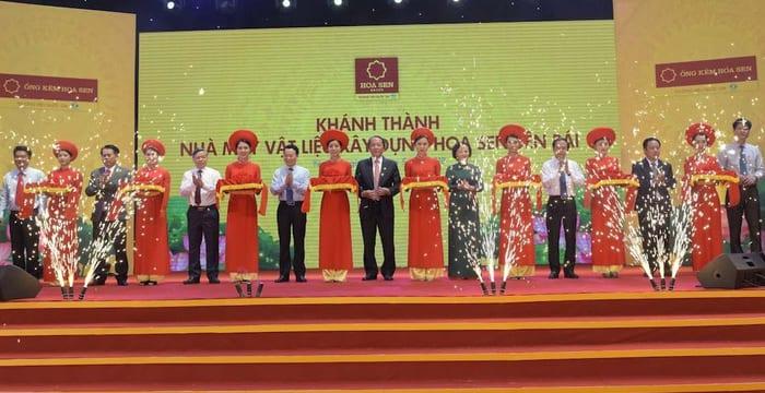 Công ty tổ chức lễ khánh thành giá rẻ tại Yên Bái I Khánh thành nhà máy vật liệu xây dựng Hoa Sen Yên Bái