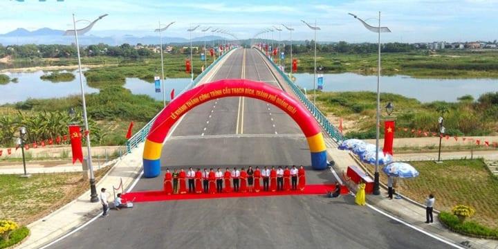 Công ty tổ chức lễ khánh thành chuyên nghiệp tại Quảng Ngãi | Khánh thành cầu Thạch Bích và gắn biển công trình chào mừng 30 năm Ngày tái lập tỉnh