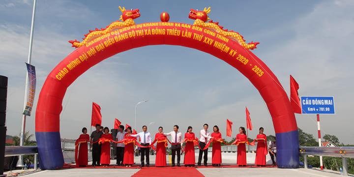 Công ty tổ chức lễ khánh thành chuyên nghiệp tại Quảng Ninh |  Khánh thành đường, cầu nối xã Nguyễn Huệ (TX Đông Triều) với phường Văn Đức (TP Chí Linh)