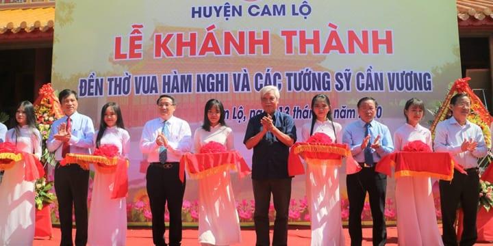 Công ty tổ chức lễ khánh thành chuyên nghiệp tại Quảng Trị | Khánh thành Đền thờ vua Hàm Nghi