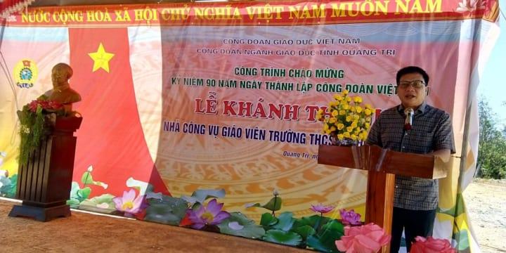 Công ty tổ chức lễ khánh thành chuyên nghiệp tại Quảng Trị | Lễ khánh thành nhà công vụ giáo viên trường THCS&THPT Cửa Việt