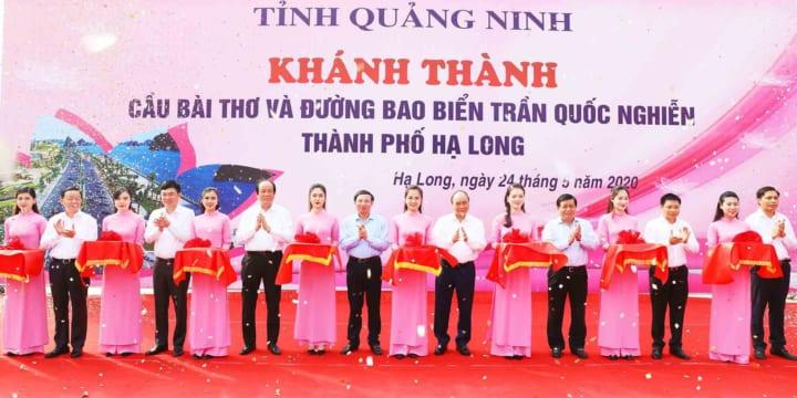 Công ty tổ chức lễ khánh thành chuyên nghiệp tại Quảng Ninh | Khánh thành cầu Bài Thơ và đường bao biển Trần Quốc Nghiễn