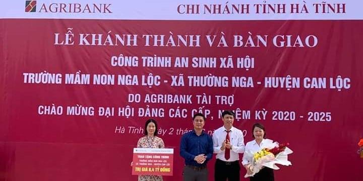 Công ty tổ chức lễ khánh thành chuyên nghiệp tại Hà Tĩnh   Agribank Hà Tĩnh khánh thành và bàn giao trường học