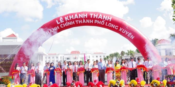 Công ty tổ chức Lễ khánh thành giá rẻ tại An Giang I Lễ khánh thành trụ sở khu hành chính thành phố Long Xuyên – An Giang