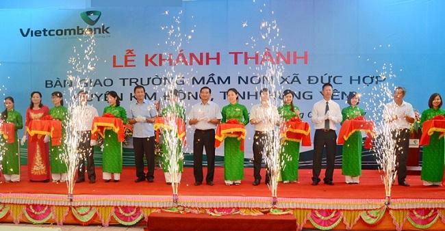 Tổ chức lễ khánh thành tại Hưng Yên | Lễ khánh thành công trình an sinh xã hội do Vietcombank tài trợ