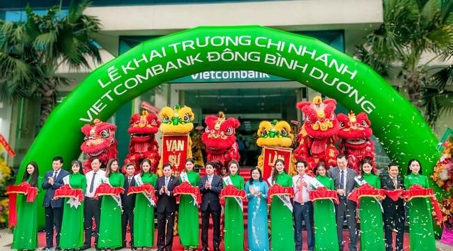 Công ty tổ chức lễ khai trương giá rẻ tại Bình DươngI Khai trương chi nhánh VIETCOMBANK