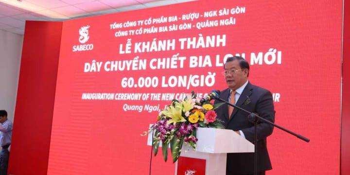 Công ty tổ chức lễ khánh thành chuyên nghiệp tại Quảng Ngãi | SABECO khánh thành dây chuyền lon tại Nhà máy Bia Sài Gòn – Quảng Ngãi