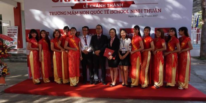 Công ty tổ chức lễ khánh thành giá rẻ tại Ninh Thuận I Khánh thành Trường Mầm non iSchool Ninh Thuận