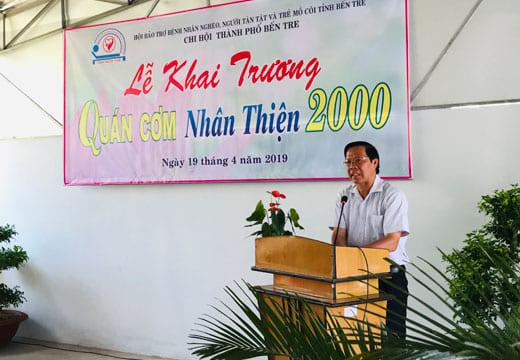 Công ty tổ chức lễ khai trương giá rẻ tại Bến TreIKhai trương quán cơm Nhân Thiện 2000