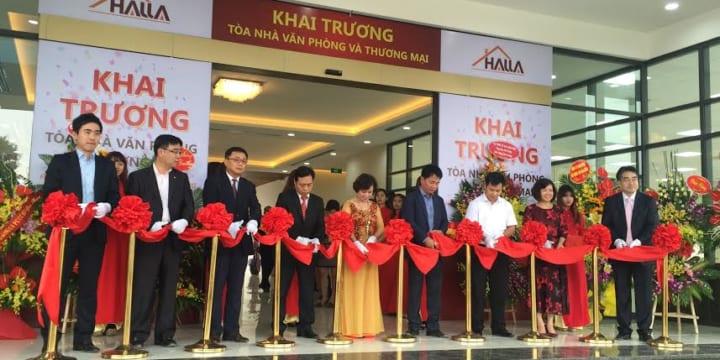 Công ty tổ chức lễ khánh thành giá rẻ tại Bắc Ninh I Lễ khánh thành tòa nhà HALLA