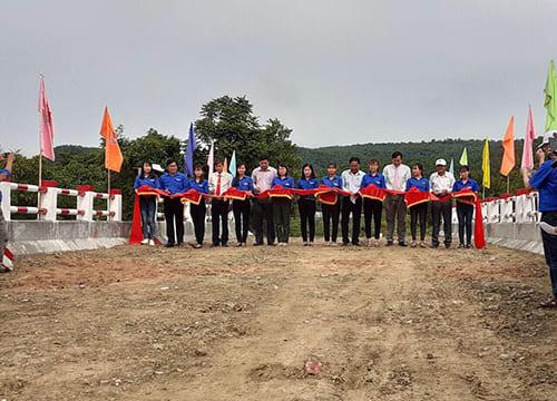 Công ty tổ chức lễ khánh thành giá rẻ tại Bình Thuận I Khánh thành cầu dân sinh qua kênh chính Nam Tà Mú