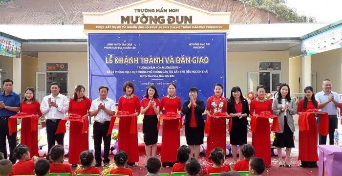 Công ty tổ chức lễ khánh thành giá rẻ tại Điện Biên I Khánh thành trường Mầm non Mường Đun