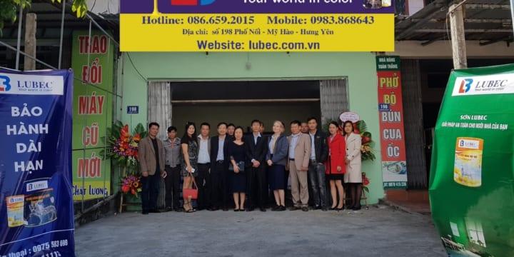 Tổ chức lễ khai trương tại Hưng Yên | Sơn Lubec Tưng Bừng Khai Trương Chi Nhánh Hưng Yên