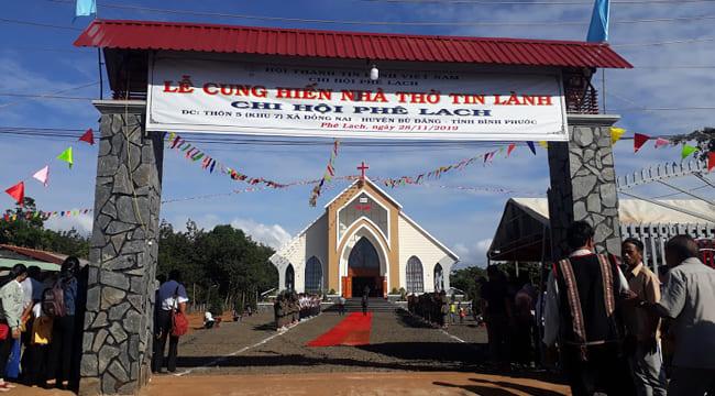 Công ty tổ chức lễ khánh thành giá rẻ tại Bình PhướcI Lễ khánh thành nhà thờ Tin lành Phê Lach