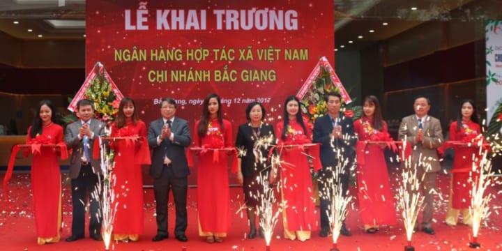 Công ty tổ chức lễ khai trương giá rẻ tại Bắc Giang I Lễ khai trương Ngân hàng hợp tác chi nhánh Bắc Giang