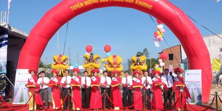 Tổ chức lễ khánh thành giá rẻ tại Đà NẵngIKhánh thành tuyến đường có tổng vốn đầu tư 490 tỉ đồng