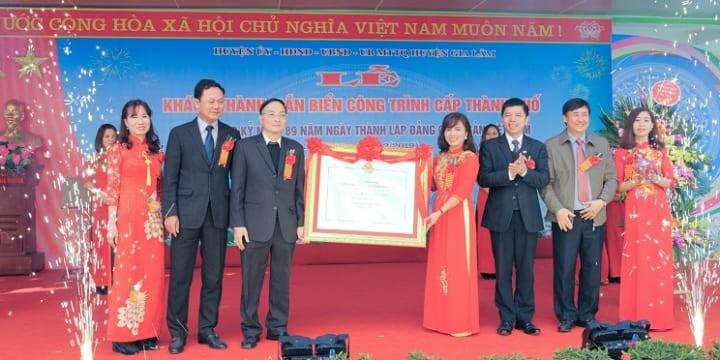 Công ty tổ chức lễ khánh thành giá rẻ tại Hà Nội I Lễ khánh thành trường mầm non Phù Đổng