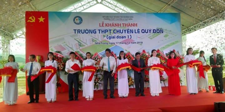 Công ty tổ chức lễ khánh thành giá rẻ tại Nha Trang| khánh thành Trường Trung học phổ thông chuyên Lê Quý Đôn