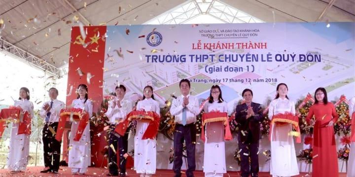 Công ty tổ chức lễ khánh thành tại Khánh Hòa | Lễ Khánh thành Trường THPT chuyên Lê Quý Đôn