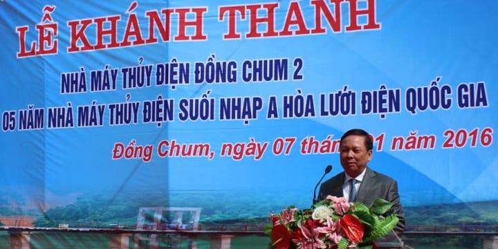 Công ty tổ chức khánh thành tại Hòa Bình | khánh thành nhà máy thủy điện Đồng Chum 2