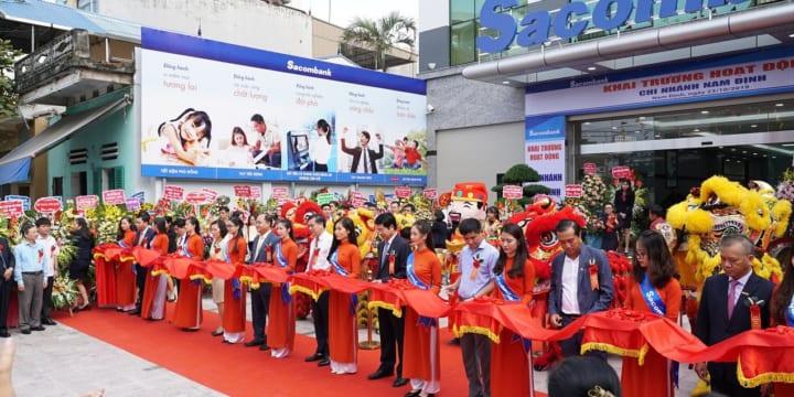 Công ty tổ chức lễ khai trương giá rẻ tại Nam ĐịnhI Sacombank khai trương chi nhánh tại Nam Định