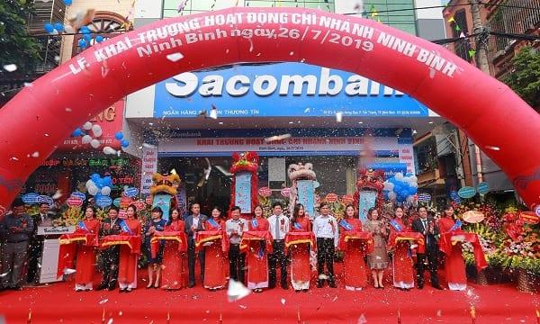 Công ty tổ chức lễ khai trương giá rẻ tại Ninh Bình| Sacombank khai trương Chi nhánh Ninh Bình